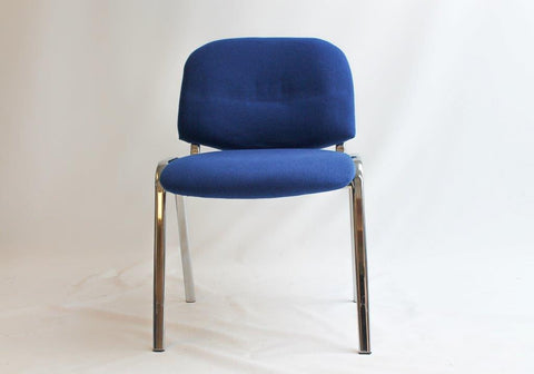 Upholstered Stacking Visitor's Chair with Chrome Frame