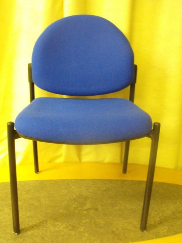 6no Upholstered Reception Chairs - Blue