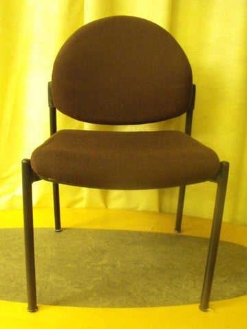 6no Upholstered Reception Chairs - Brown