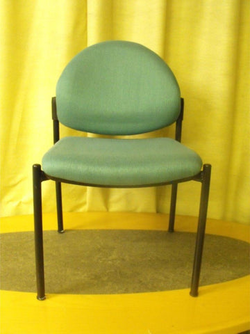 6no Upholstered Reception Chairs - Green