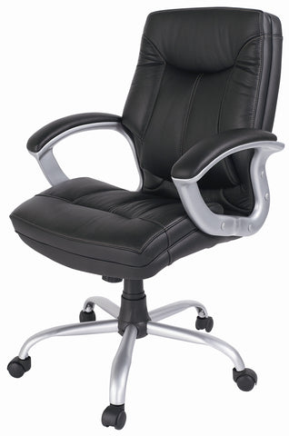 6no Leather Faced Executive Chairs