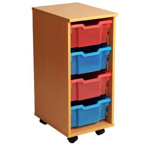 Tote Tray Unit - Single - Four Deep Trays
