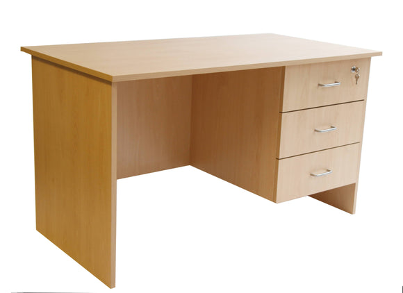 Single Desk With 3 Drawer Pedestal