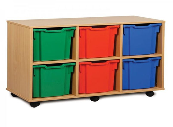 Tote Tray Unit - Triple - Six Jumbo Trays