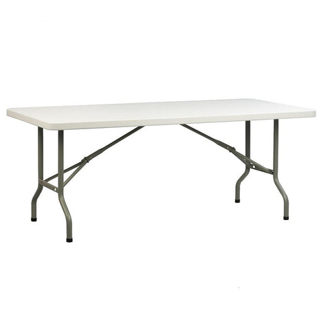5no 6FT Rectangular PVC Banquet Folding Table