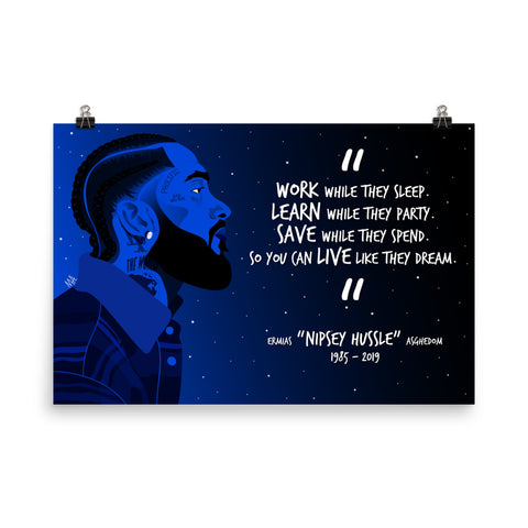 RIP Nip (White Text) - 36x24 Poster