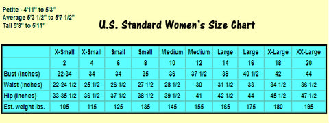 US Standard Sizes