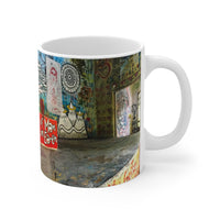Beatles Ashram Cathedral Rishikesh India Graffiti Coffee Mug by Indiodyssey