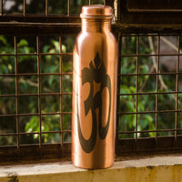 Copper Water Bottle with OM