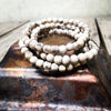 IndiOdyssey Trio of Rough Hewn Tulsi Bracelets