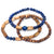 Radha Tulsi Trio Bracelets with Gemstones