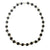 Black Tulsi Silver Capped Necklace Choker
