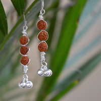Rudraksha Trinity Earrings