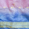 Tie-Dyed Multi-Colored Recycled Silk Sari