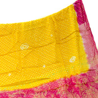 Pink and Yellow Recycled Silk Sari