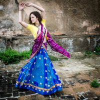 Gopi Skirt Recycled Sari (Ready-made, Sm/Med)