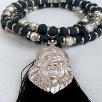 Black Tulsi  Necklace with Narasimha Kavach