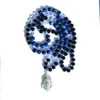 Black Tulsi and Lapis Lazuli Narasimha Necklace