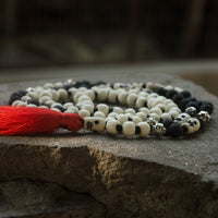 Kali Maa Bone and Lava Stone Mala