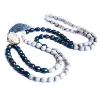 Black Pearls and Vaijanti Job's Tears 108 Mala