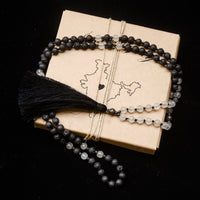 Lava Stone and Rose Quartz Infused Mala Necklace