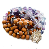 Fluorite and Sandalwood Kali Mala