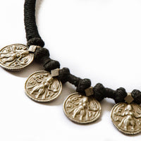 Kali Goddess Silver Coin Tribal Choker Necklace