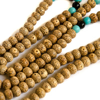 Moon and Stars bodhi seed 108 mala