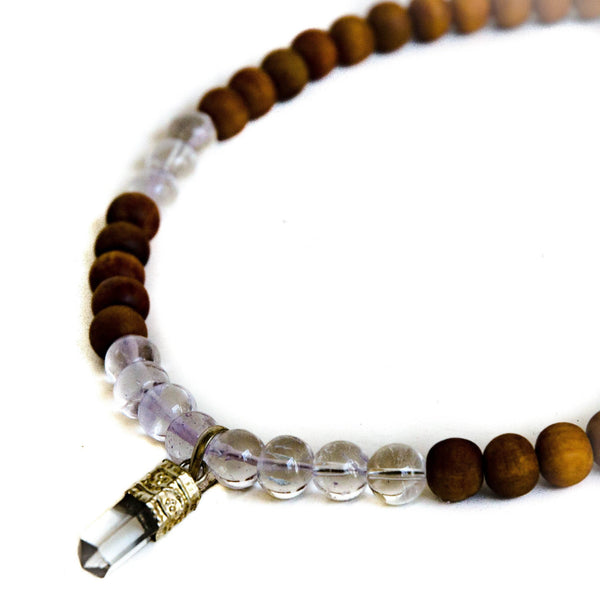 Sandalwood and Crystal Choker
