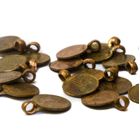 Old India Coin Charms one naya paisa with copper bails