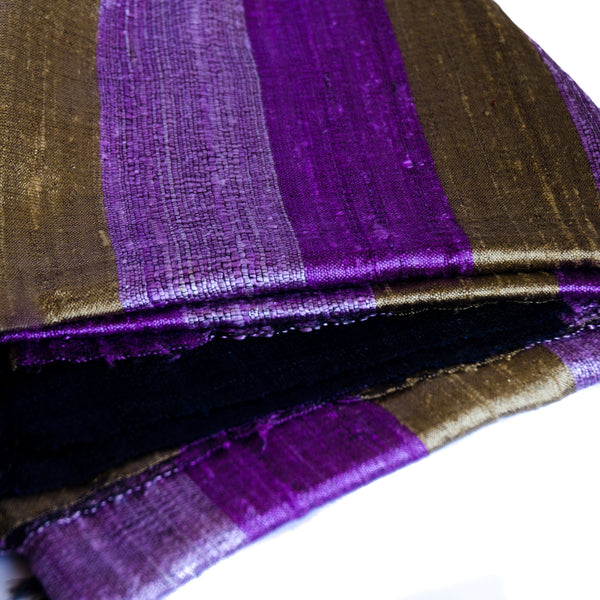 Bihari Raw Silk Scarf - Purple