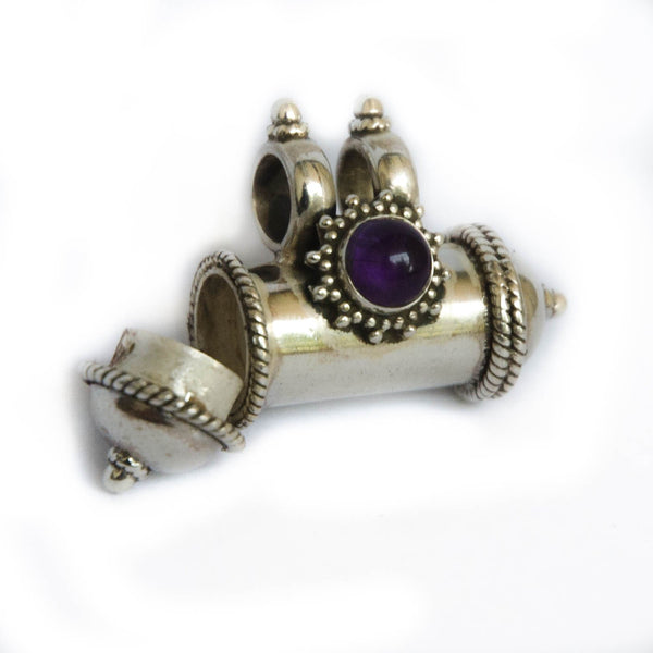 Kavach with Amethyst Cabochon