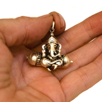 Ganesh kavach, sterling silver. Ganesh is the destroyer of all obstacles.