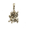 Sterling silver Durga Pendant