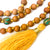 Sandalwood and Nepal Tribal Marker Beads 108 Mala