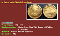 Old Indian Coin Charms (5pcs)