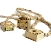 Tulsi Necklace Wood Kavach with Bhagavad Gita & Vrindavan Dust