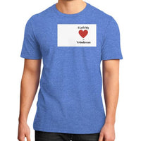 District T-Shirt (on man) Heather blue Indiodyssey