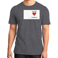 District T-Shirt (on man) Heather charcoal Indiodyssey