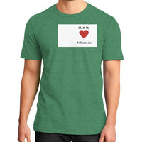 District T-Shirt (on man) Heather green Indiodyssey