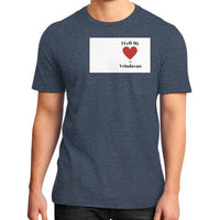 District T-Shirt (on man) Heather navy Indiodyssey
