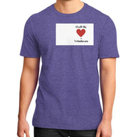 District T-Shirt (on man) Heather purple Indiodyssey