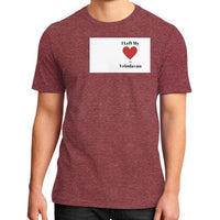 District T-Shirt (on man) Heather red Indiodyssey