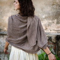 Cashmere Wool Shawl - Natural