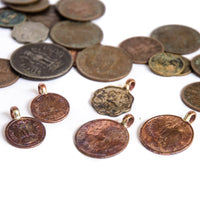 Old Indian Coin Charms