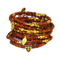 Rudraksha and Brass Bracelet