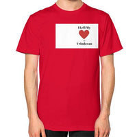 Unisex T-Shirt (on man) Red Indiodyssey