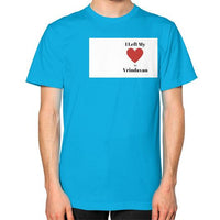 Unisex T-Shirt (on man) Teal Indiodyssey