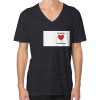 V-Neck (on man) Tri-Blend Black Indiodyssey