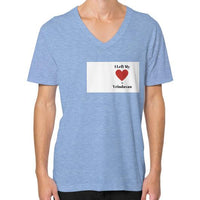 V-Neck (on man) Tri-Blend Blue Indiodyssey